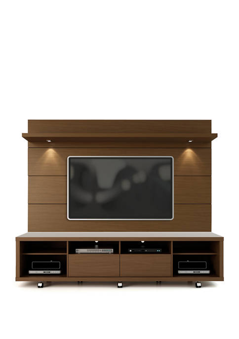 Manhattan Comfort 2 Piece Nut Brown Cabrini TV