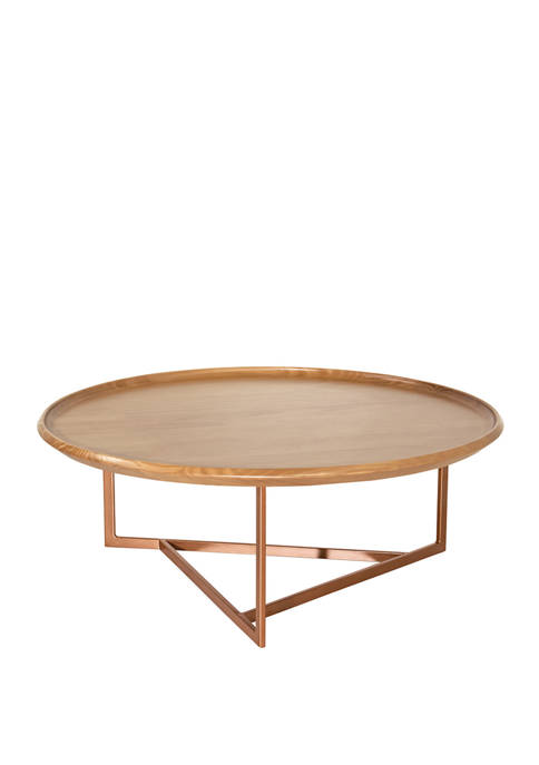Manhattan Comfort 31.88 Inch Knickerbocker Round Coffee Table