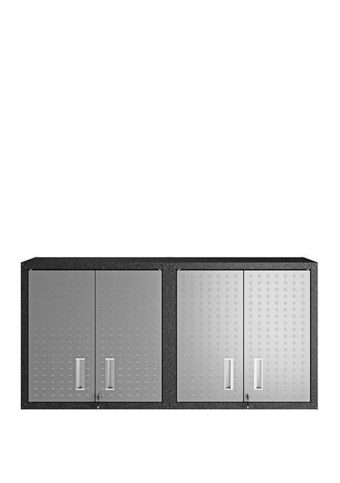 Fortress 30 Inch Floating Garage Cabinet with Adjustable Shelves - Set of 2