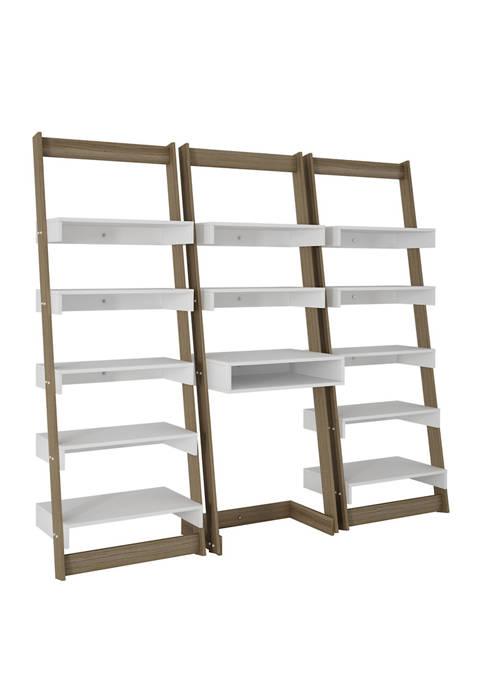 Manhattan Comfort 3 Piece Carpina Ladder Desk and