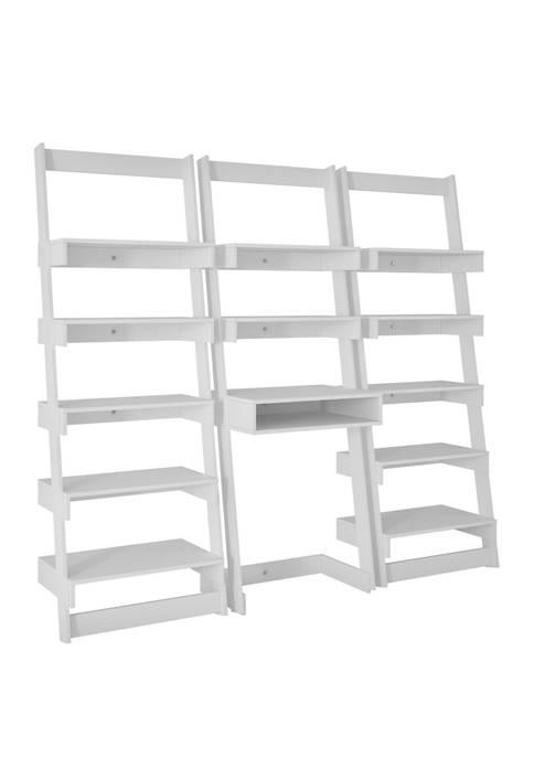 3 Piece Carpina Ladder Desk and Shelf Set