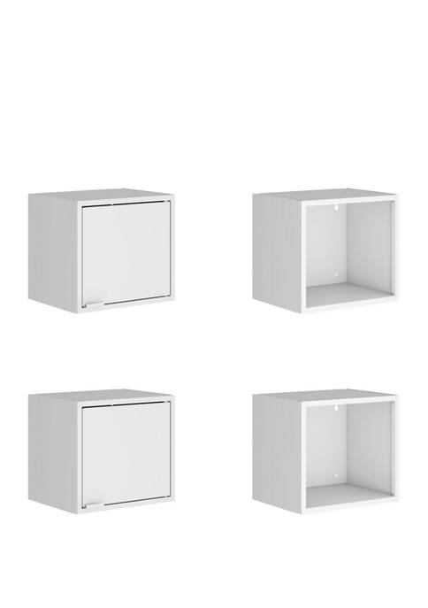 13.77 Inch Set of 4 Smart Floating Cabinet and Display Shelf