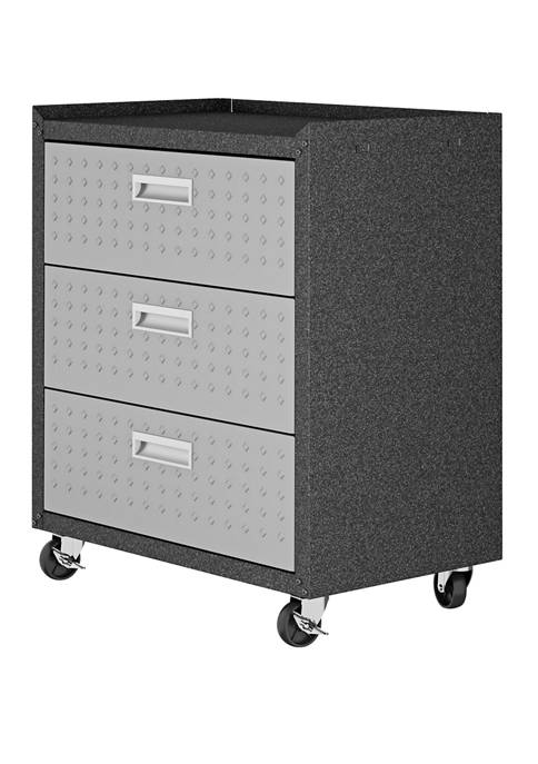 31.5 Inch Fortress Garage Mobile Chest with 3 Full Extension Drawers