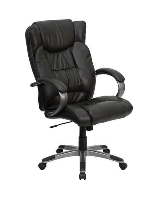 Flash Furniture High Back LeatherSoft Soft Ripple Upholstered