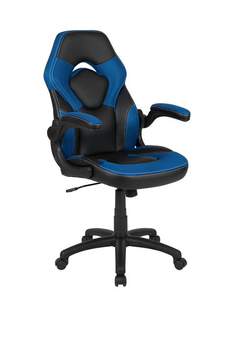 X10 Gaming Chair Racing Office Ergonomic Computer PC Adjustable Swivel Chair with Flip-up Arms
