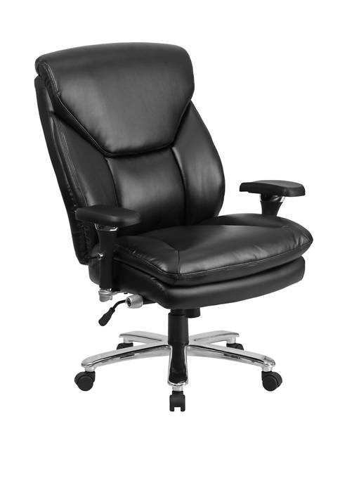 Hercules Series 24/7 Intensive Use Big & Tall 400 Pound Rated High Back Executive Swivel Ergonomic Office Chair with Lumbar Knob and Large Triangular Shaped Headrest