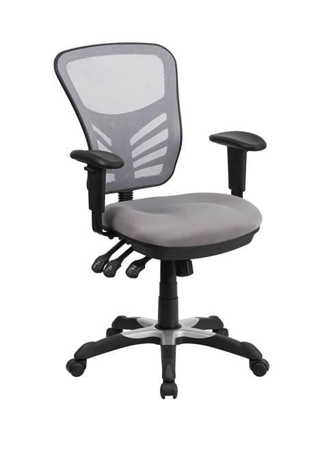 Flash Furniture Mid Back Mesh Multifunction Executive Swivel