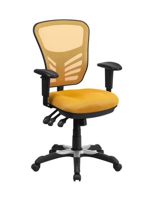 Mid Back Mesh Multifunction Executive Swivel Ergonomic Office Chair with Adjustable Arms