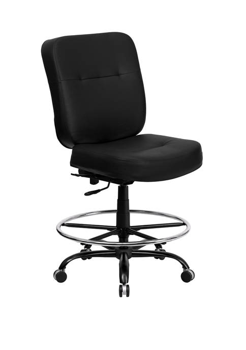 Big & Tall HERCULES Series 400 Pound Rated Ergonomic Drafting Chair with Rectangular Back and Adjustable Arms