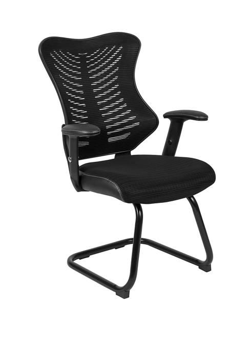 Flash Furniture Designer Mesh Sled Base Side Reception