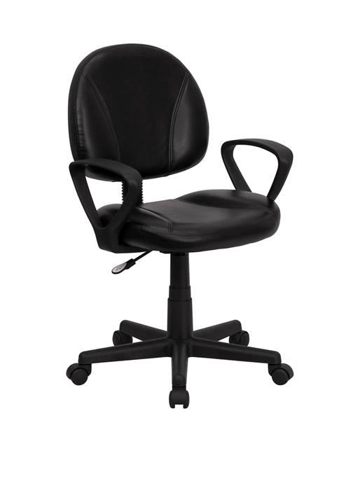 Flash Furniture Mid-Back LeatherSoft Swivel Ergonomic Task Office