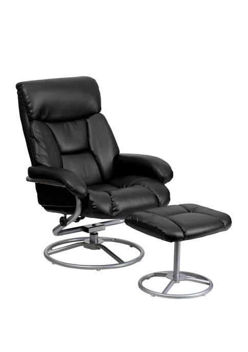 Flash Furniture Contemporary Multi Position Recliner and Ottoman