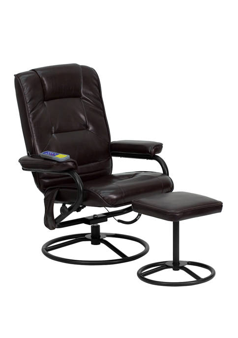 Flash Furniture Massaging Multi Position Recliner and Ottoman