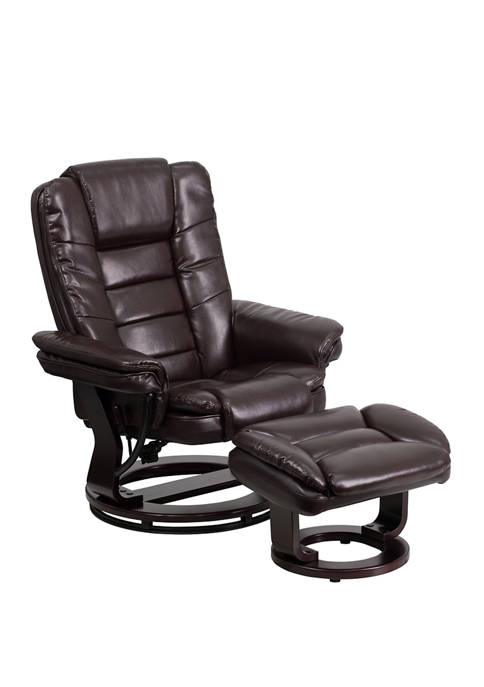 Flash Furniture Contemporary Leather Recliner with Horizontal