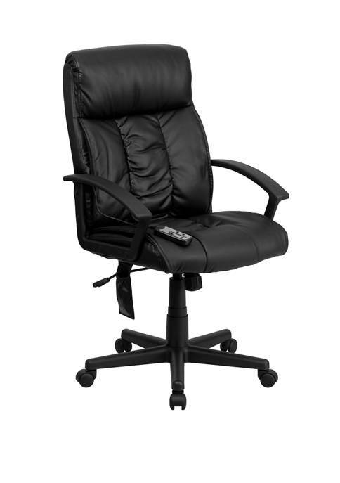 Flash Furniture High Back Ergonomic Massaging LeatherSoft Soft