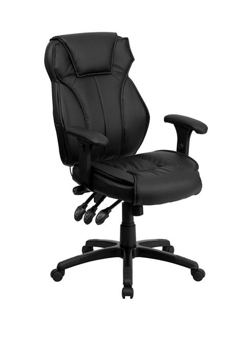 Flash Furniture High Back LeatherSoft Multifunction Executive