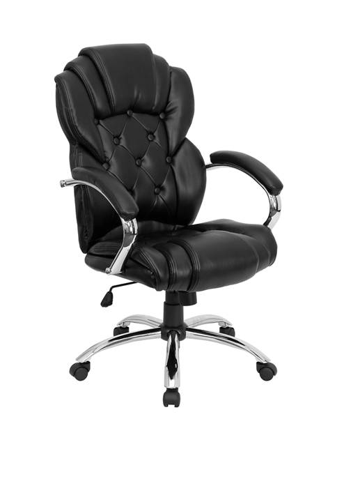 Flash Furniture High Back Transitional Style LeatherSoft