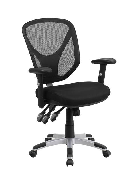 Flash Furniture Mid-Back Mesh Multifunction Swivel Ergonomic Task