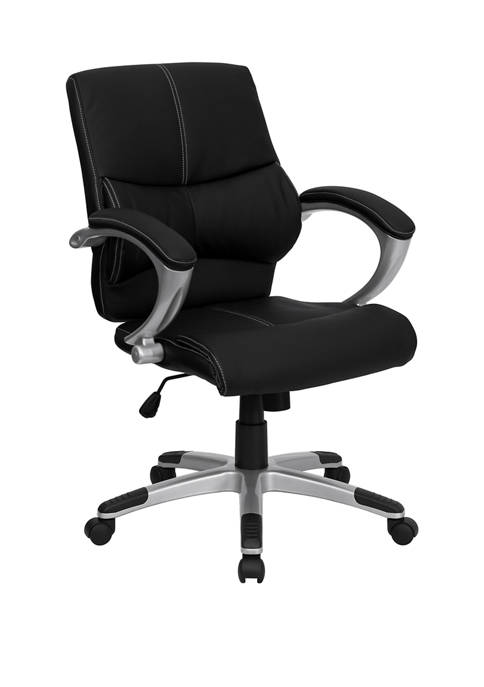 Flash Furniture Mid-Back LeatherSoft Contemporary Swivel Managers