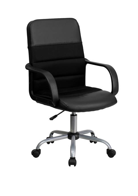 Flash Furniture Mid-Back LeatherSoft and Mesh Swivel Task