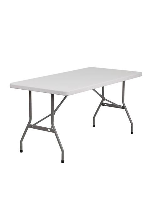 Flash Furniture 6 Foot Adjustable Folding Table
