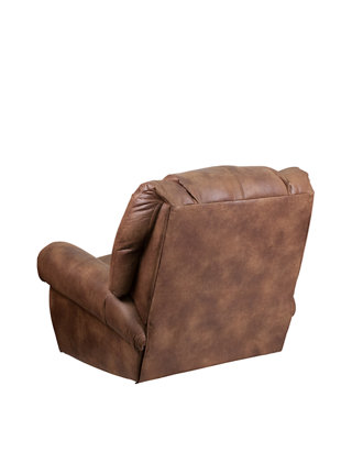 Tremendous Contemporary Breathable Comfort Fabric Rocker Recliner With Brass Accent Nail Trim Machost Co Dining Chair Design Ideas Machostcouk