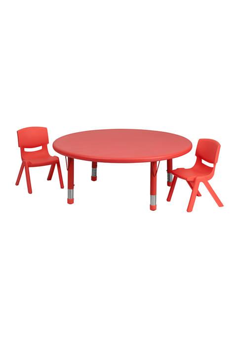 Adjustable 3 Piece Round Activity Table Set
