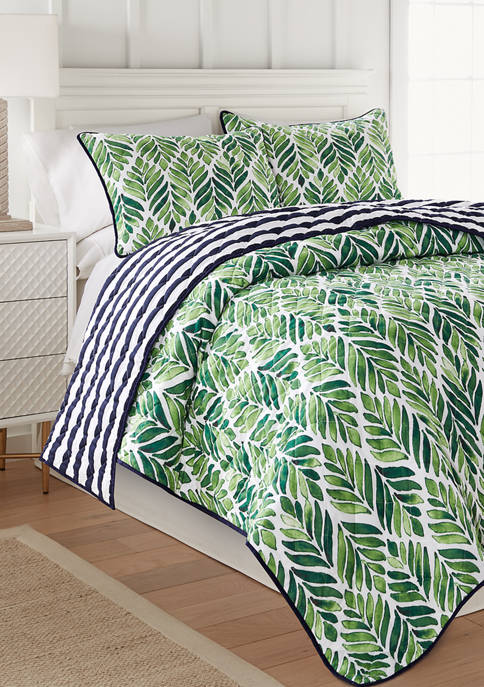 Crown & Ivy™ Watercolor Feather Quilt Set