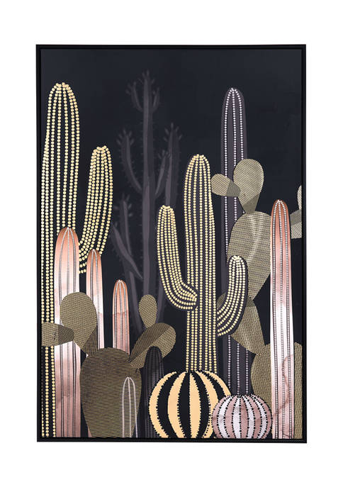 Zuo Cactus At Dusk Canvas