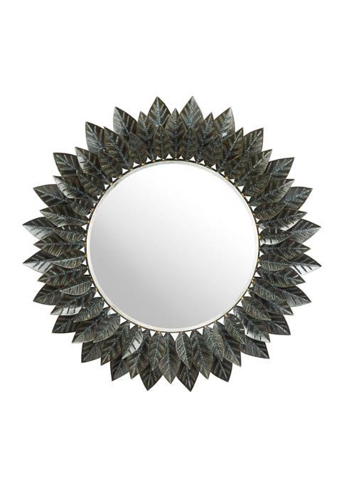 Leaf Round Mirror