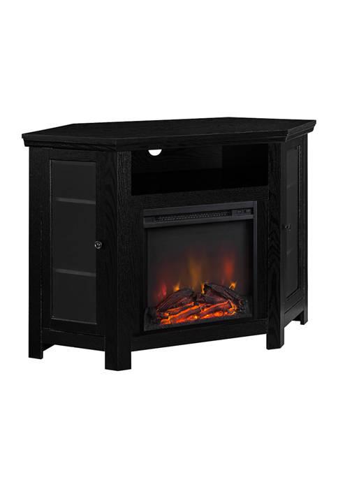Bridgeport Designs 48 Inch Farmhouse Corner Fireplace TV