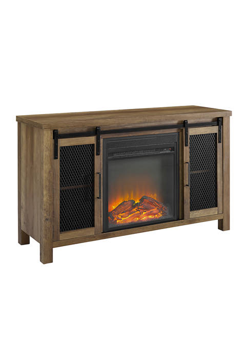 Bridgeport Designs 48 Inch Rustic Farmhouse Fireplace TV