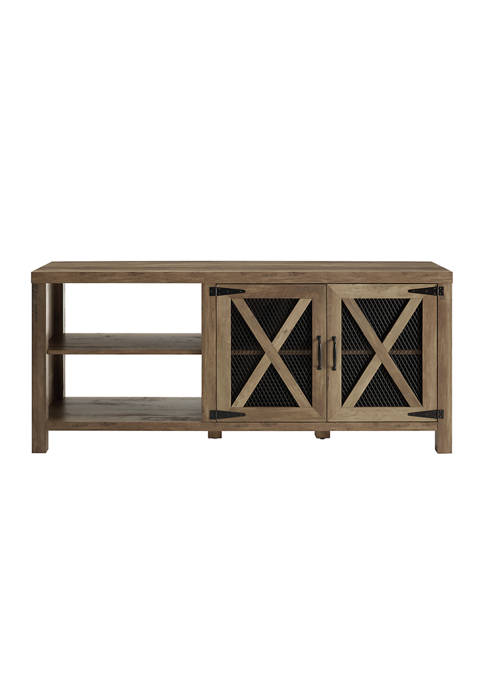 Bridgeport Designs 58 Inch Industrial Farmhouse TV Stand