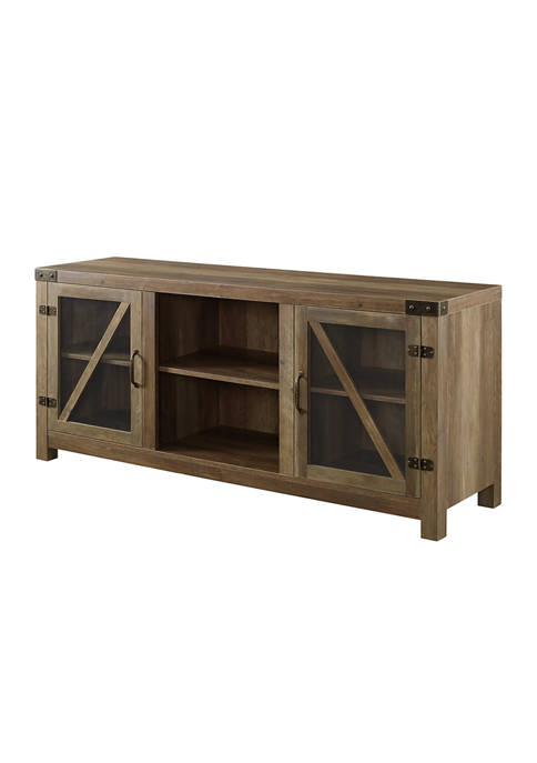 Bridgeport Designs 58 Inch Rustic Farmhouse TV Stand