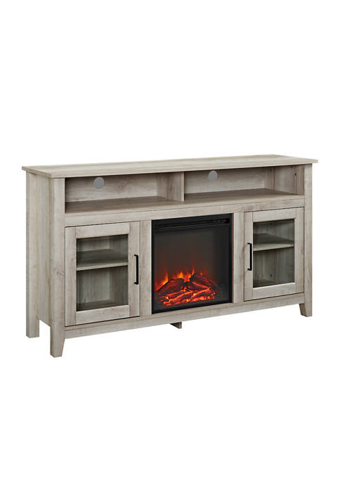 Bridgeport Designs 58 Inch Farmhouse Tall Fireplace TV