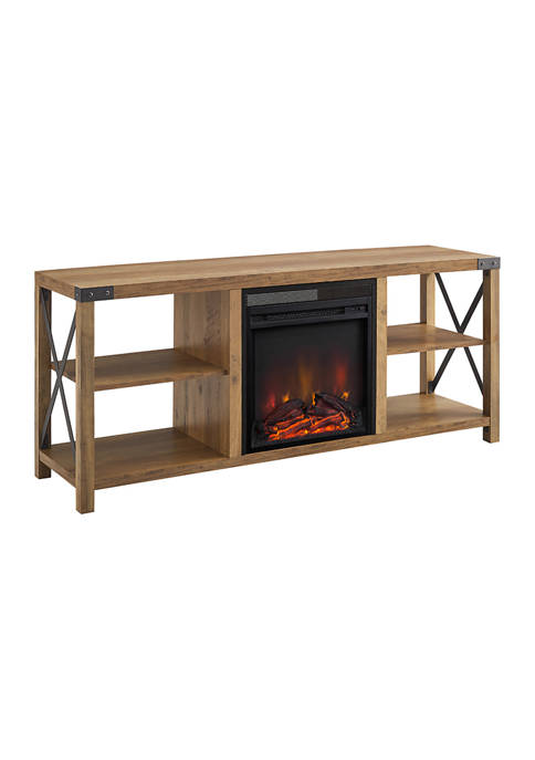 Bridgeport Designs 60 Inch Farmhouse X Frame Fireplace