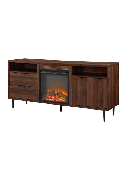 Bridgeport Designs 60 Inch Mid Century Modern Fireplace