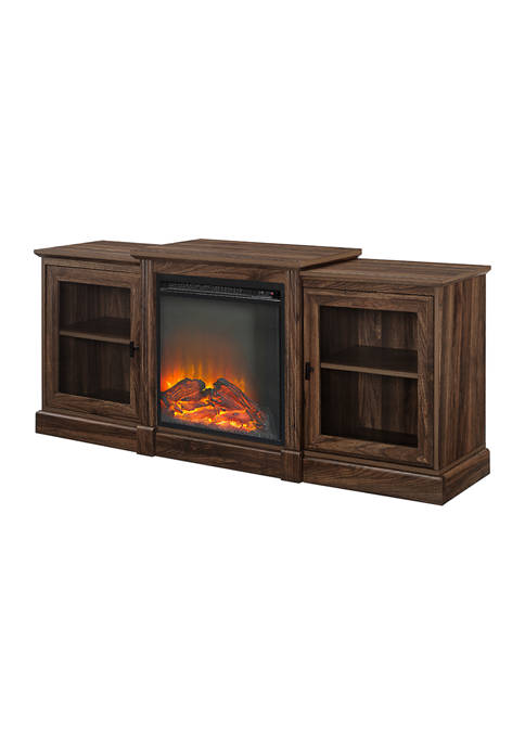Bridgeport Designs 60 Inch Tiered Top Fireplace TV