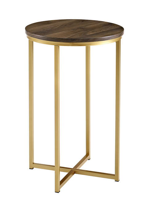 Modern Glam Round Side End Table