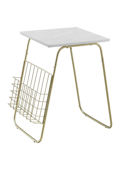 Bridgeport Designs Modern End Table with Magazine Holder