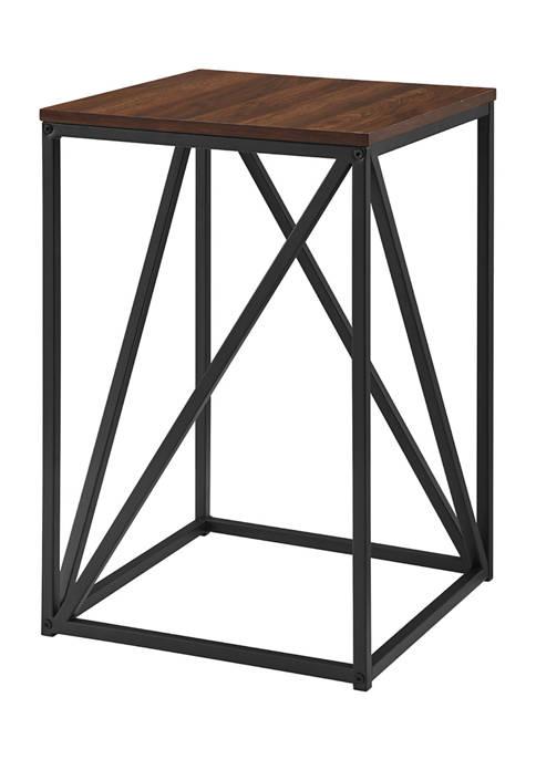Modern Geometric Square End Table