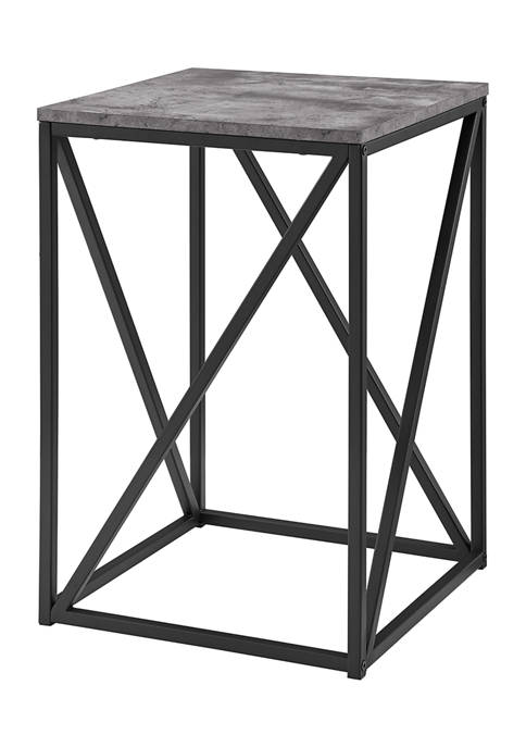 Bridgeport Designs Modern Geometric Square End Table