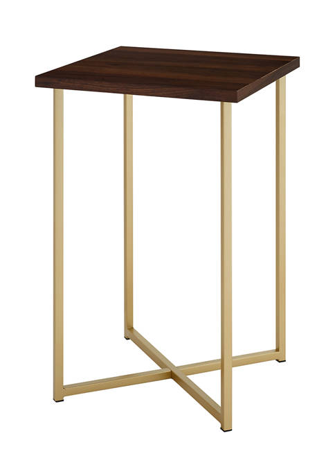 Modern Glam Square End Table