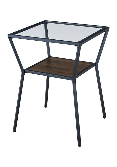 Bridgeport Designs Modern Angled Frame Top End Table