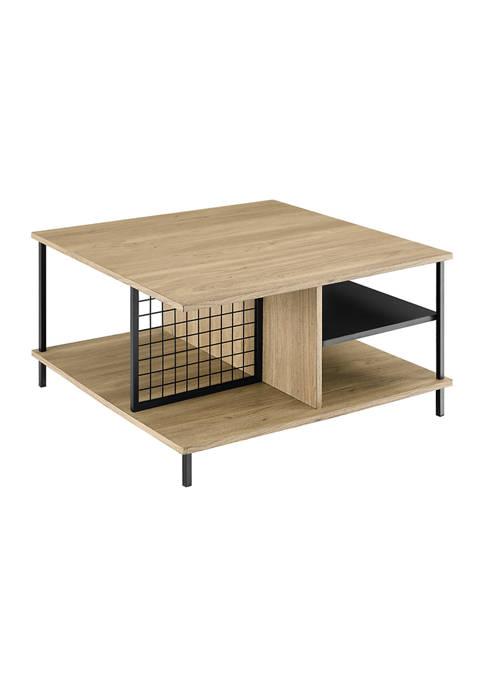 Bridgeport Designs Modern Square Multi Shelf Coffee Table
