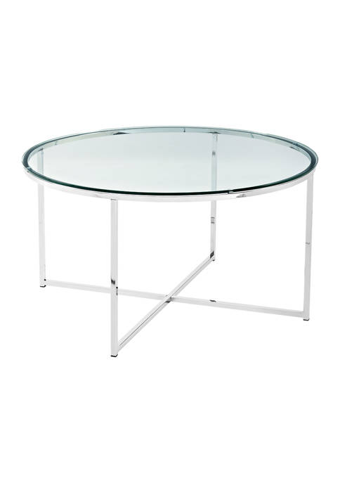 Bridgeport Designs Modern Glam Round Coffee Table