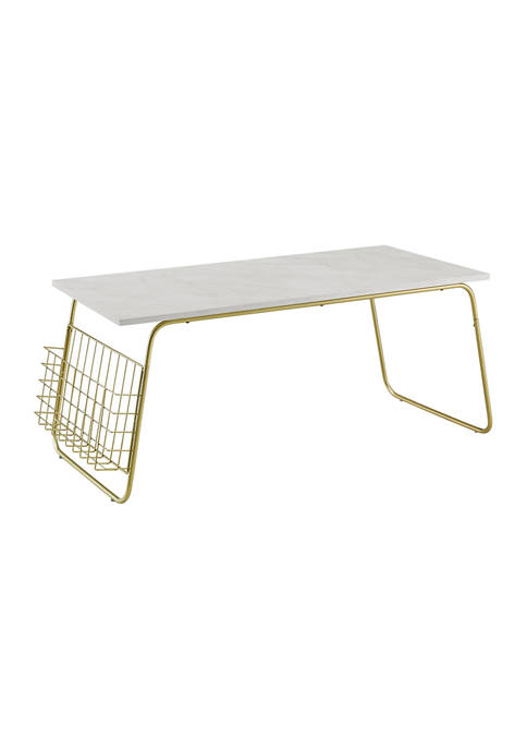 Bridgeport Designs Modern Coffee Table With Magazine Holder