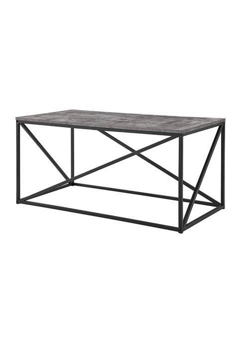 Bridgeport Designs Modern Geometric Square Coffee Table