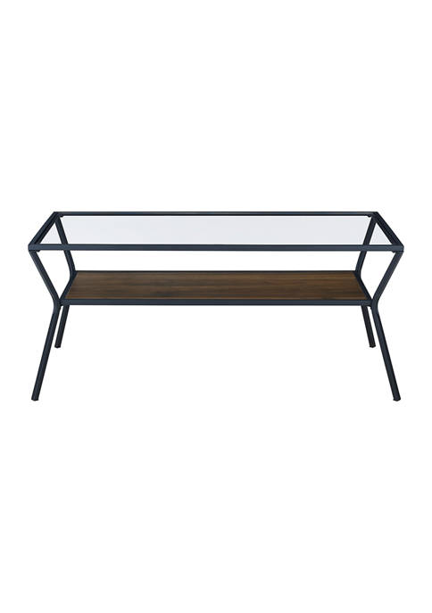 Bridgeport Designs Modern Angled Frame Coffee Table