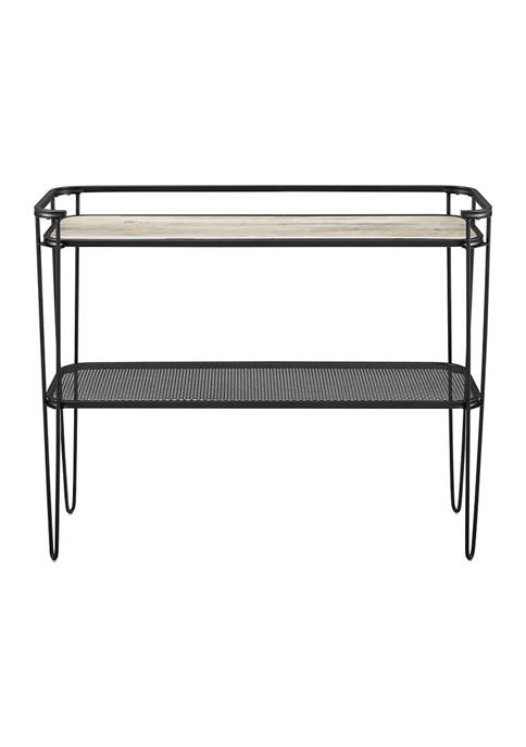 Industrial Modern Hairpin Entryway Console Table